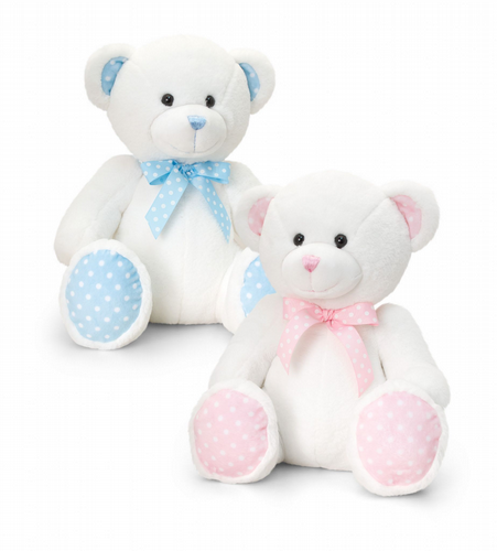 25cm Nursery Spotty Bear